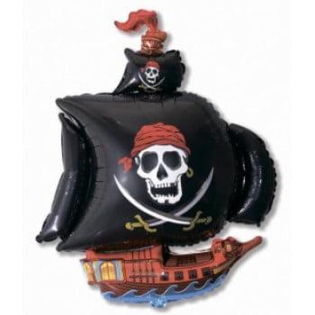 Шарик на палочке Пиратский корабль черный