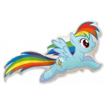 Шарик на палочке Пони радуга
