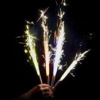 Свеча Цветное пламя Фонтан для торта (12см)