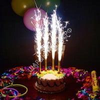Свеча Фонтан для Торта 4шт 12 см