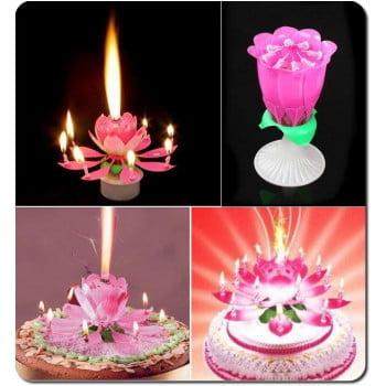 Музыкальная свечка для торта (самораскрывающаяся)