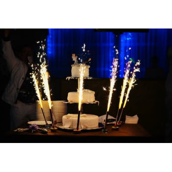 Свеча Фонтан для торта, Золото, 18 см, 6 шт.