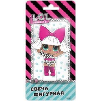 Свеча Кукла ЛОЛ (LOL), Роскошная Дива, 7 см