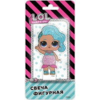 Свеча Кукла ЛОЛ (LOL), Русалочка, 7 см