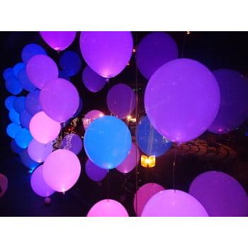 Светящиеся шары белые с разноцветной подсветкой мигающие