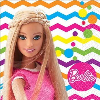 Салфетки  Барби, 16 штук