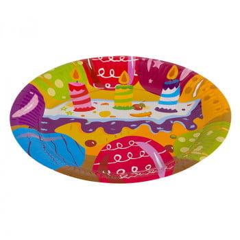 Тарелки бумажные  Ассорти праздничное 23-см 6 штук