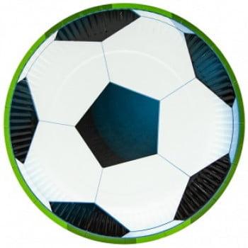 Тарелки 23 см Футбольный мяч, 6 шт.