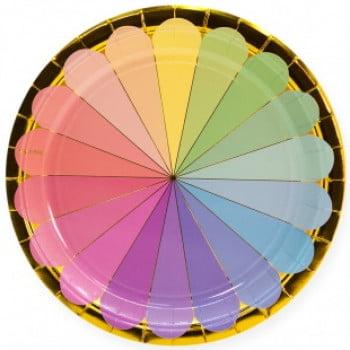 Тарелки 23 см Радужный спектр, Золото, 6 шт.