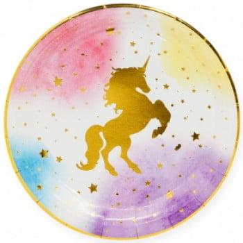 Тарелки 23 см Звездный Единорог, 6 шт.