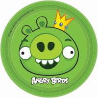 Тарелки  Angry Birds 8шт 17 см