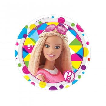 Тарелки Барби 8шт 17 см