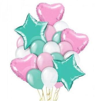 Букет розовый тиффани 15+5