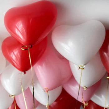Воздушные шары под потолок Сердца Ассорти