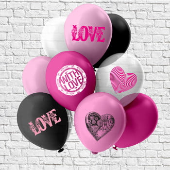 Шарики LOVE сердца
