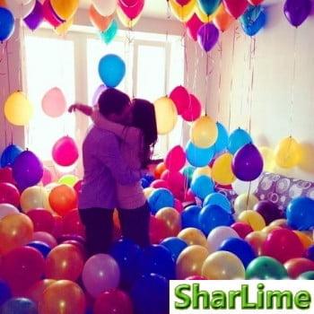 Воздушные  шары на пол ассорти (цвета на выбор)