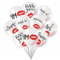 Шарики с гелием Поцелуй